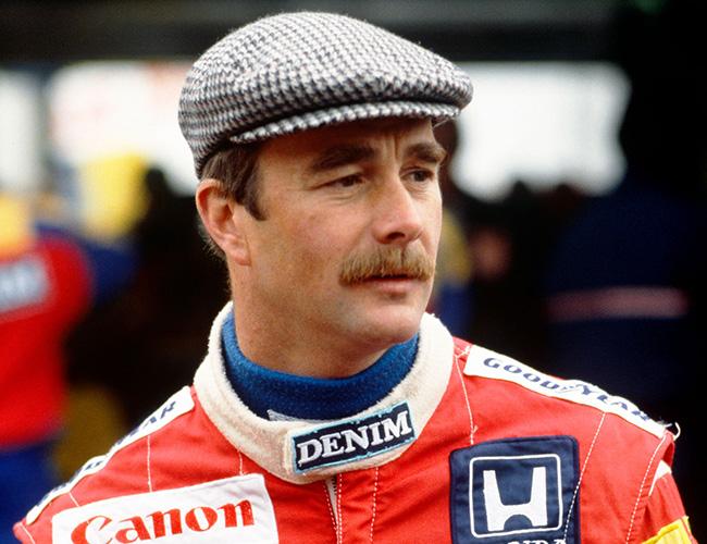 Nigel Mansell in Cap