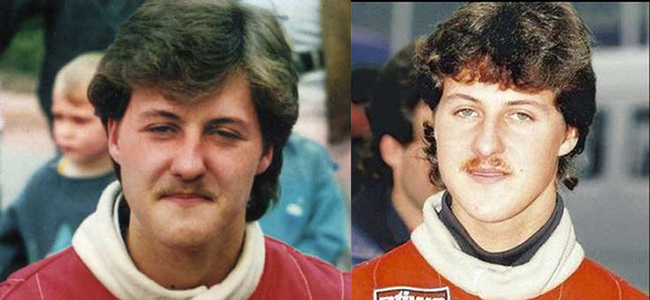 Young Michael Schumacher With a Moustache