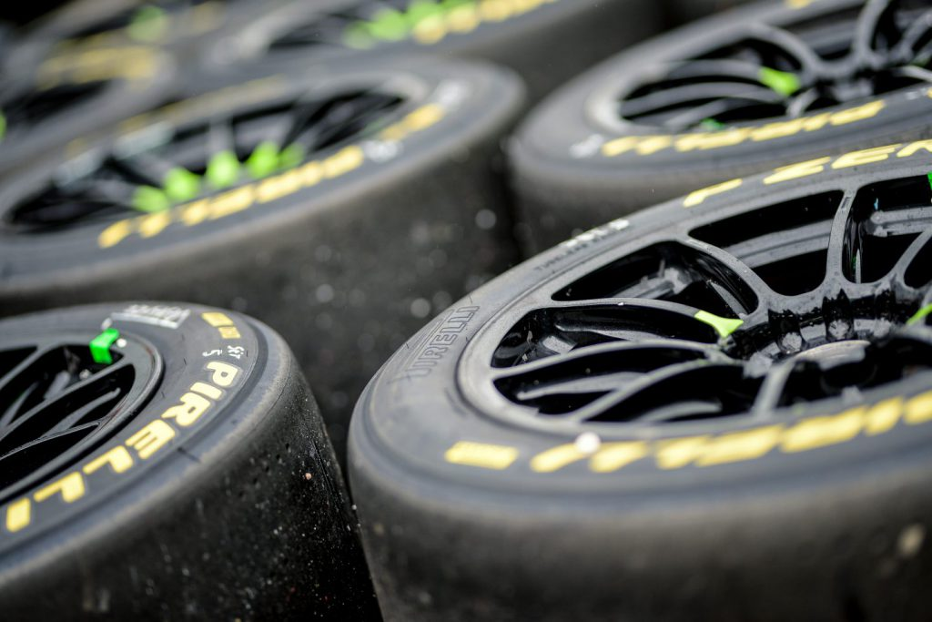 Used racing tyres
