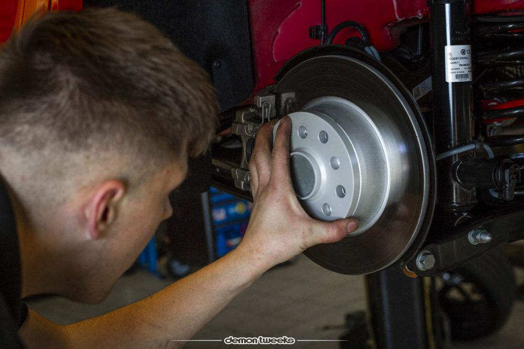 Eibach Wheel Spacers being fitted