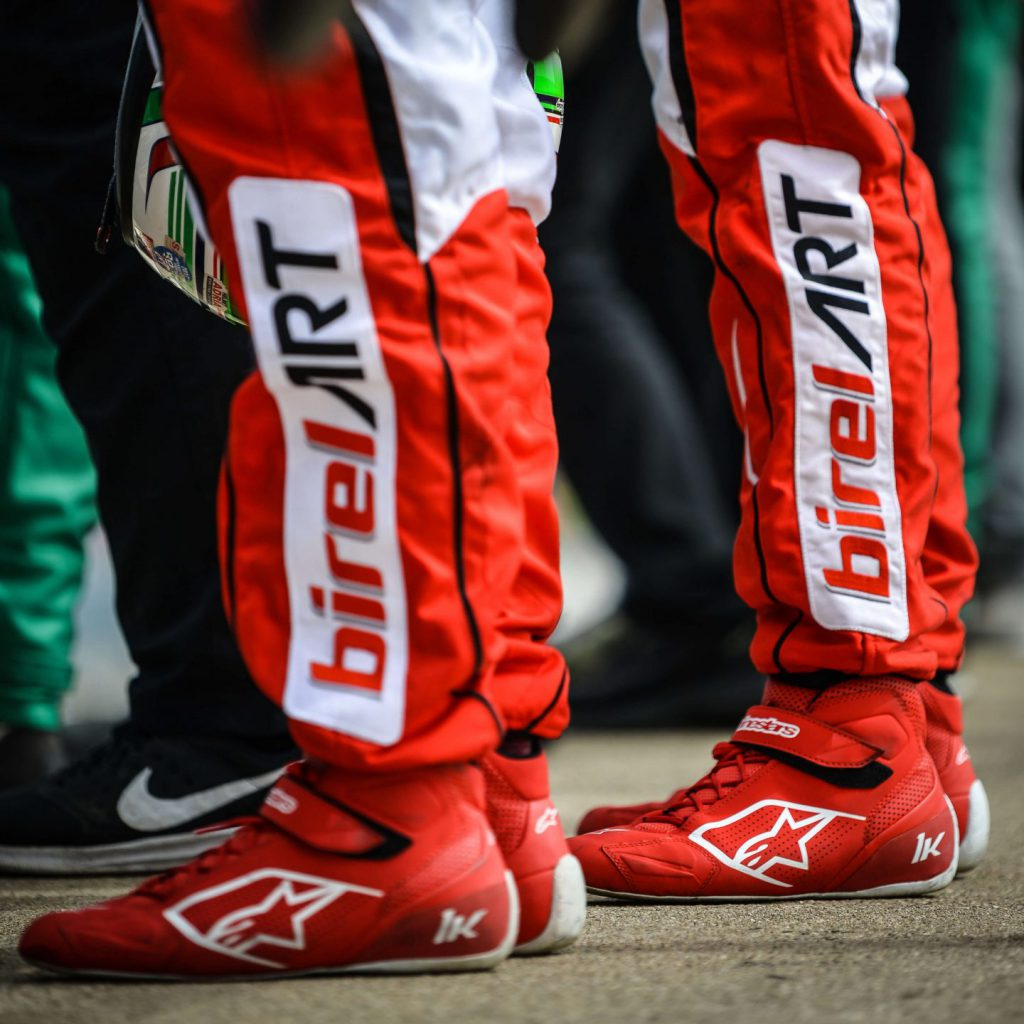 Close up of Alpinestars karting boots