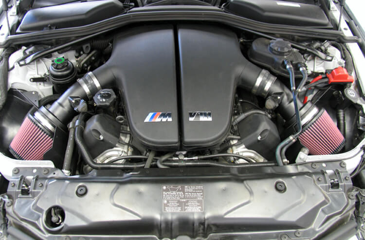air filter on a BMW