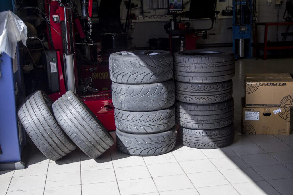 two sets of tyres