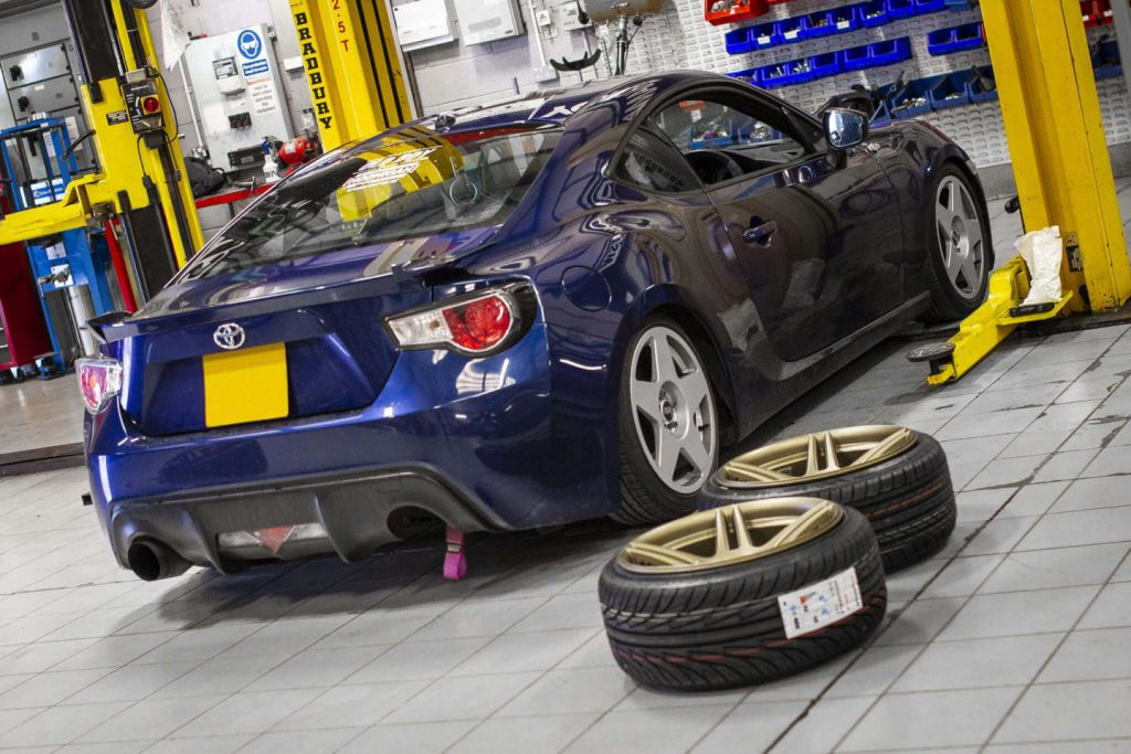 Toyota GT86 getting ready for new wheels