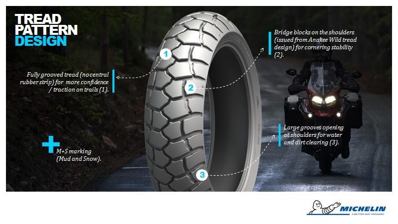 Michelin Anakee Adventure trail tyre tread pattern design